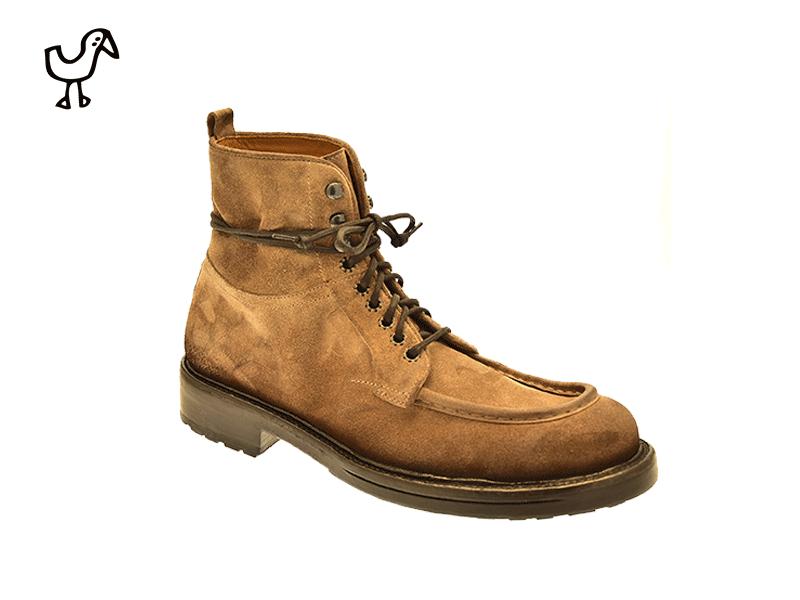Elia Maurizi - man urban casual leather & rubber commando sole